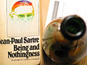 Nature morte. Jean-Paul Sartre & Champagne