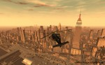 Flying a chopper towards Empire State Building, GTA4 PC Screenshot