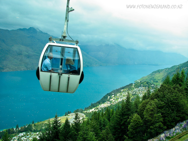 Cable car (gondola) in Queenstown, New Zealand